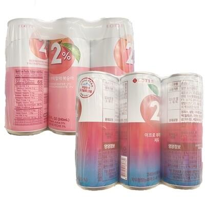Lotte 2% 6 Cans (8.12 Fl. Oz. * 6 Cans)