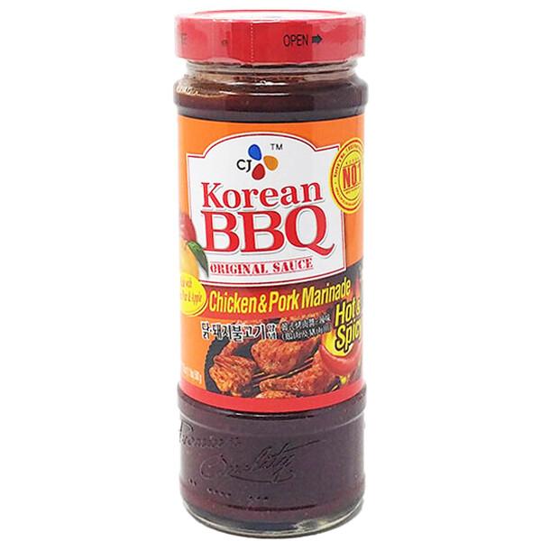 CJ Korean BBQ Sauce Chicken & Pork Marinade Hot & Spicy (17.63 Oz)