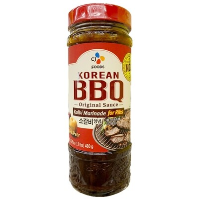 CJ Korean BBQ Sauce Galbi Marinade for Ribs (16.93 Oz)
