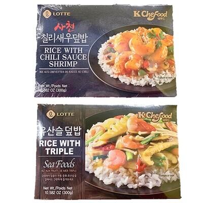 Lotte Frozen Rice with Seafood (10.58 Oz)