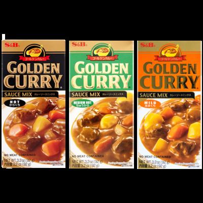 S&B Golden Curry Sauce Mix (3.2 Oz)