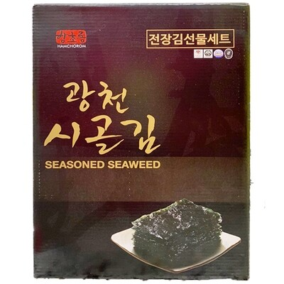 HamChoRom Seasoned Seaweed Gift Set (0.7 Oz * 10 Packs)
