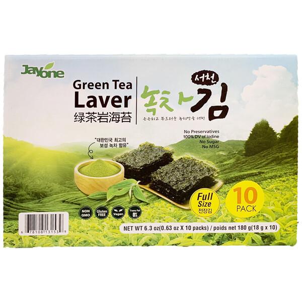 Jayone Green Tea Laver Full Size Gift Set (0.63 Oz * 10 Packs)
