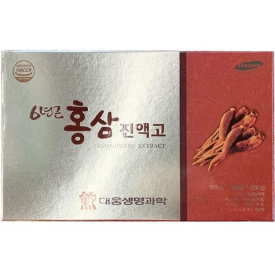 DaeWoong 6 - Year Old Red Ginseng Extract (1.1LB * 2 Jars)
