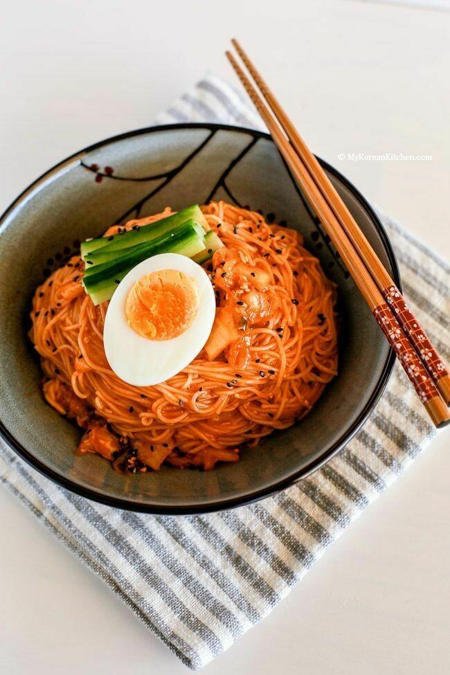 Spicy Korean Cold Noodles