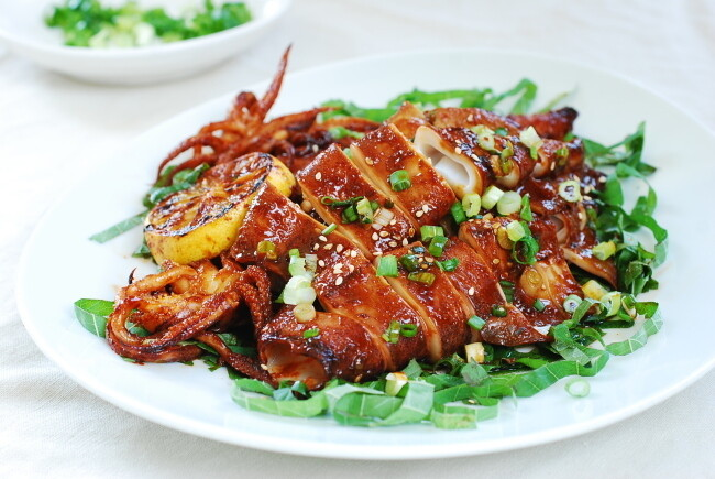 Spicy Panbroiled Squid