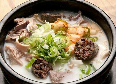 Korean Pork Sausage Soup