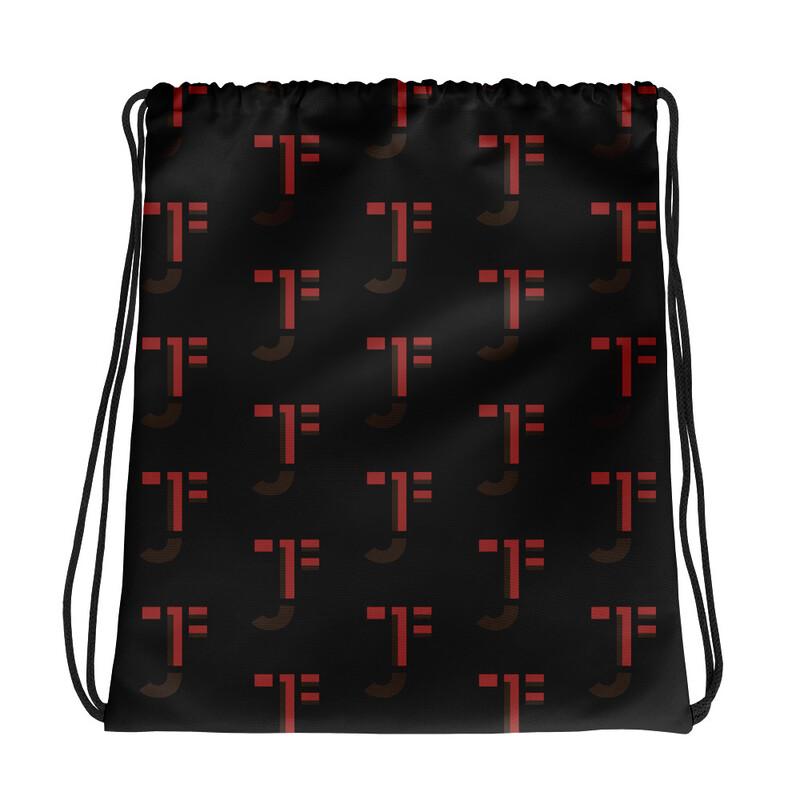 JTF Pattern Drawstring Bag (Black)