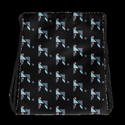 hymnn. Puzzled Drawstring Bag (Black)