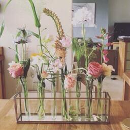 Nkuku Flower Box ( Incl Glass Tubes) Large