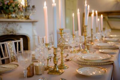 Vintage Brass Candlesticks - Assorted