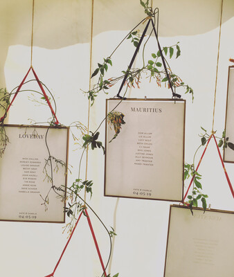 Hanging Brass & Glass Frames