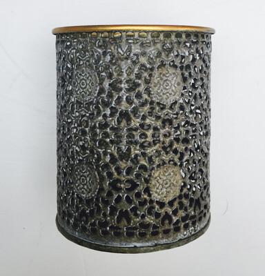 Metal Filligree Candle Holder