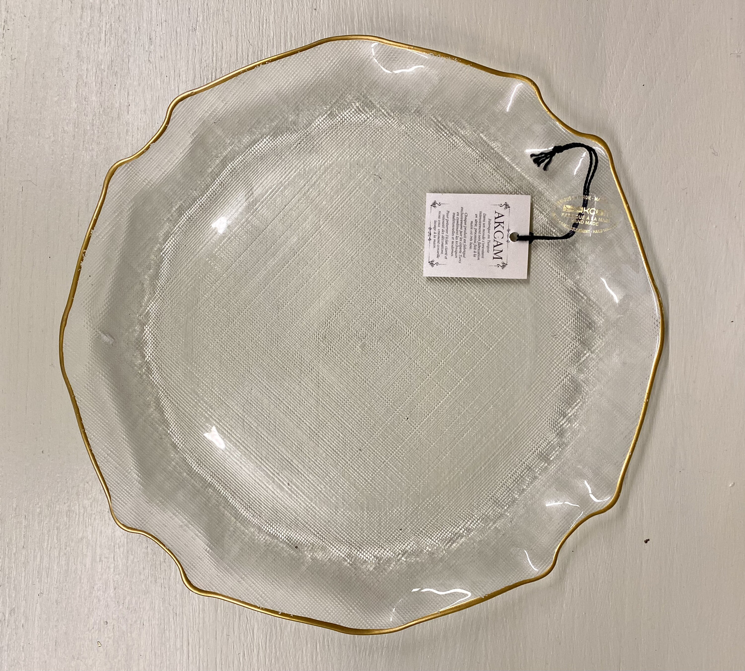 Small Decorative Fluted Plate - 28cm