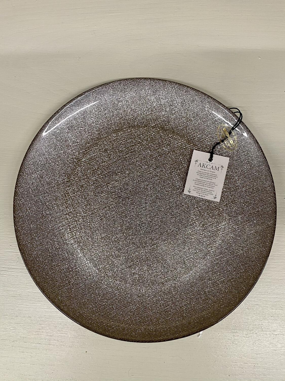 Sparkly Decorative Plates - 28cm