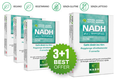 NADH plus TRIPTOFANO (3+1)