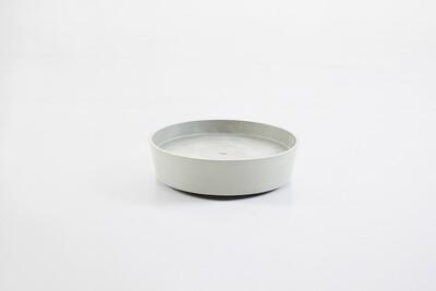 Ecopots Saucer Wheels Round 40 White Grey