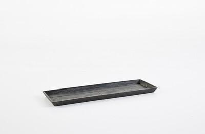 Ecopots Saucer Rectangular 45 Dark Grey