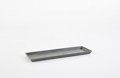 Ecopots Saucer Rectangular 45 Grey