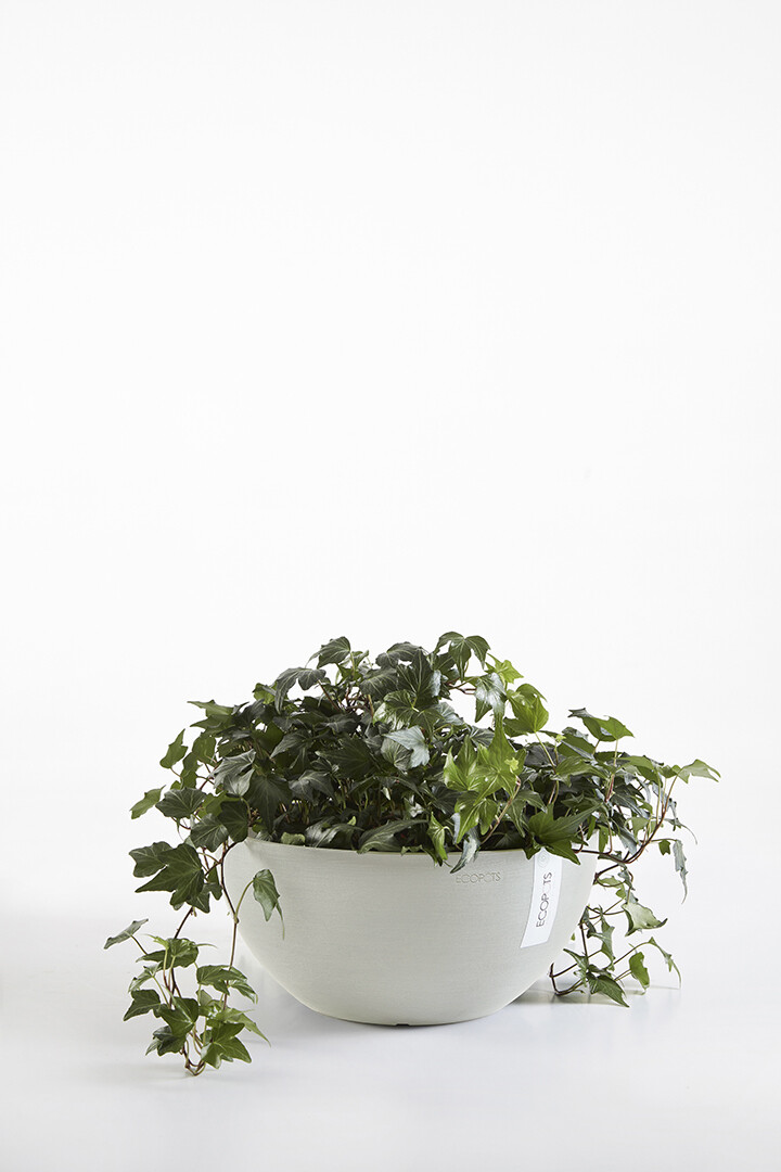 Ecopots Brussels 25 White Grey