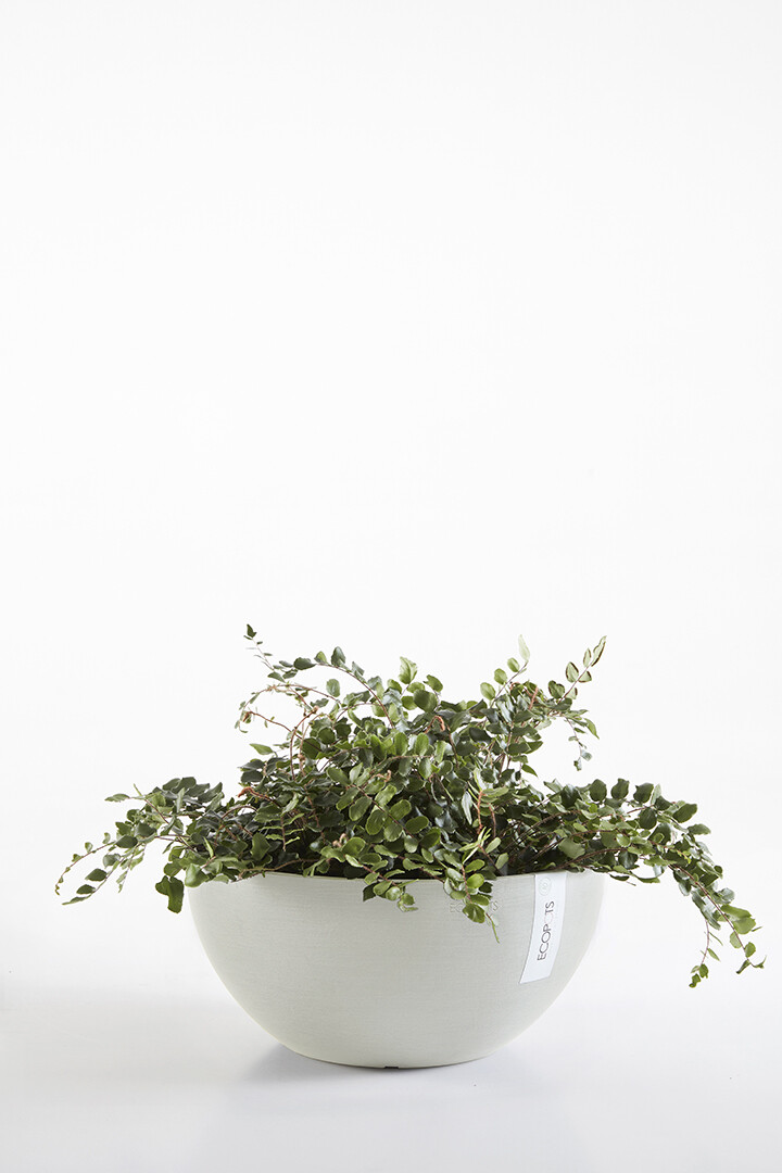 Ecopots Brussels 35 White Grey