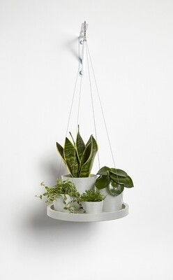 Ecopots Hanging Saucer 36 White Grey