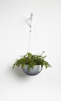 Ecopots Hanging Brussels 27 Blue Grey