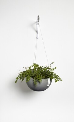 Ecopots Hanging Brussels 27 Grey
