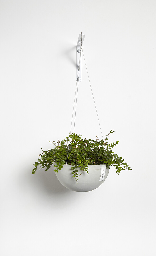 Ecopots Hanging Brussels 27 White Grey