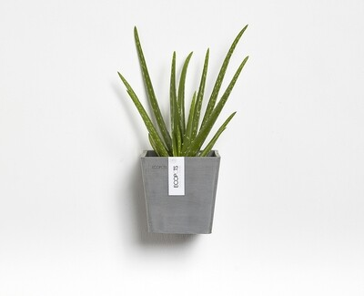 Ecopots Manhattan Wall S 15 Blue Grey