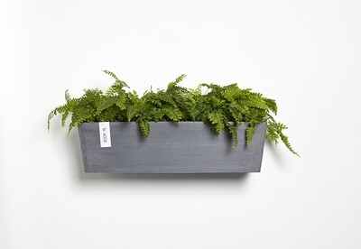 Ecopots Manhattan Wall L 55 Blue Grey