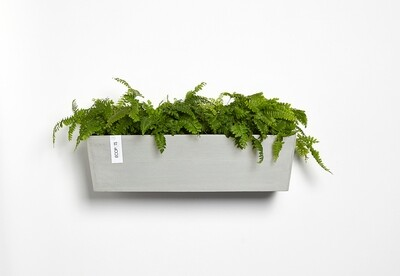 Ecopots Manhattan Wall L 55 White Grey