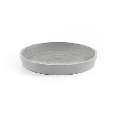 Ecopots Saucer Round 20 White Grey