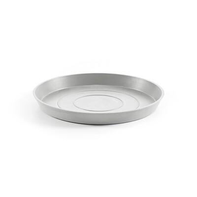 Ecopots Saucer Round 40 White Grey