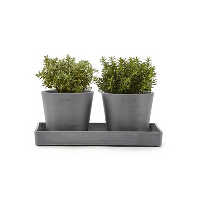 Ecopots Display Platter Amsterdam Mini 25 Grey