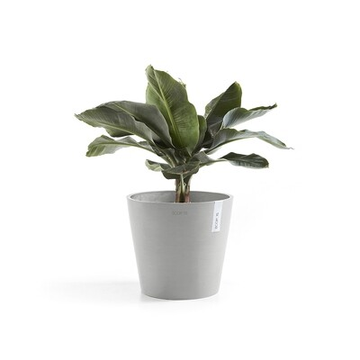 Ecopots Amsterdam 40 White Grey + water reservoir