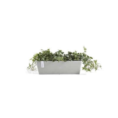 Ecopots Bruges 45 White Grey + water reservoir