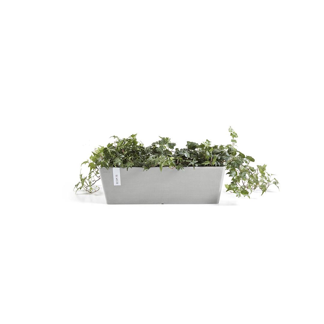 Ecopots Bruges 55 White Grey + water reservoir