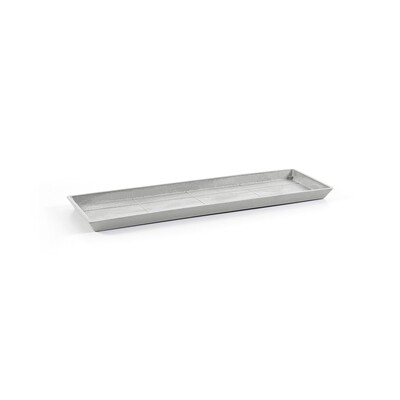 Ecopots Saucer Rectangular 65 White Grey