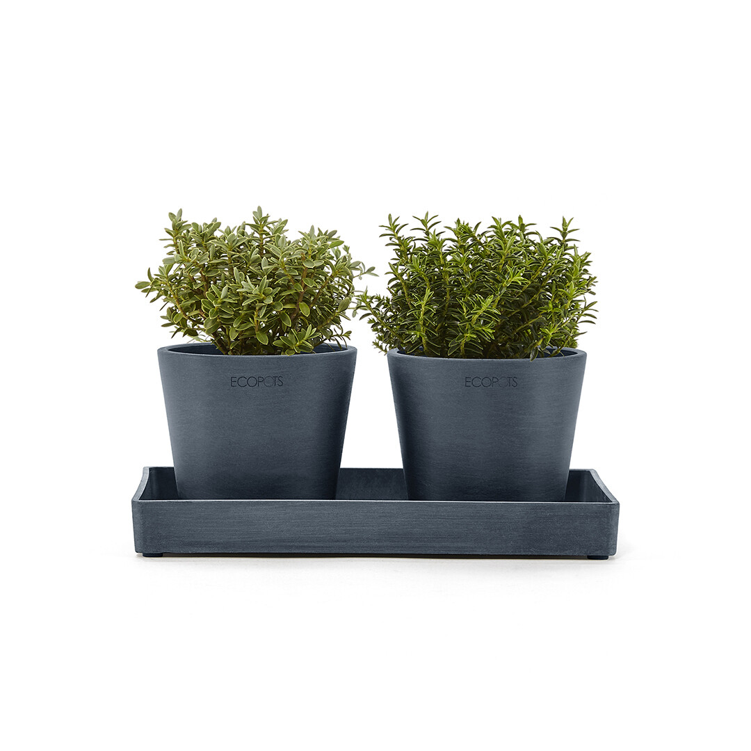 Ecopots Display Platter Amsterdam Mini 25 Dark Blue