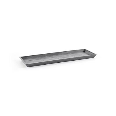 Ecopots Saucer Rectangular 80 Grey