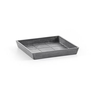 Ecopots Saucer Square 20 Grey