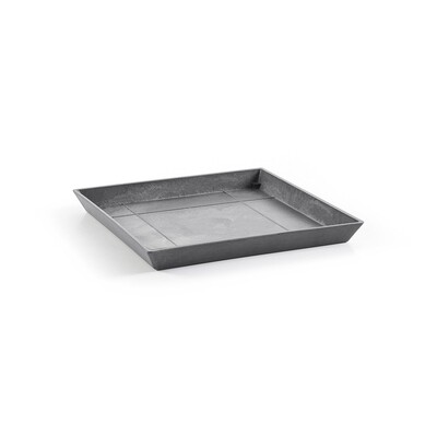 Ecopots Saucer Square 50 Grey