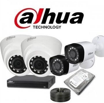 عرض 4 كاميرات مراقبة بدقة 2 ميقا داخلي وخارجي شامل التركيب