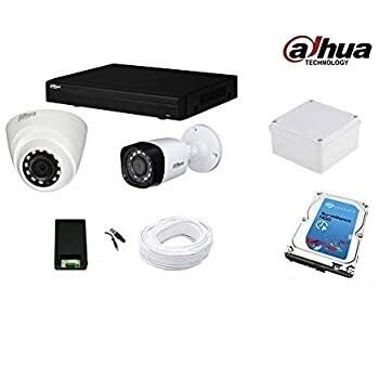 عرض 2 كاميرات مراقبة بدقة 5 ميجا داخلي و خارجي شامل التركيب