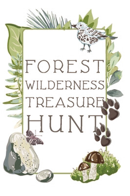 Forest Wilderness Treasure Hunt Cards Game