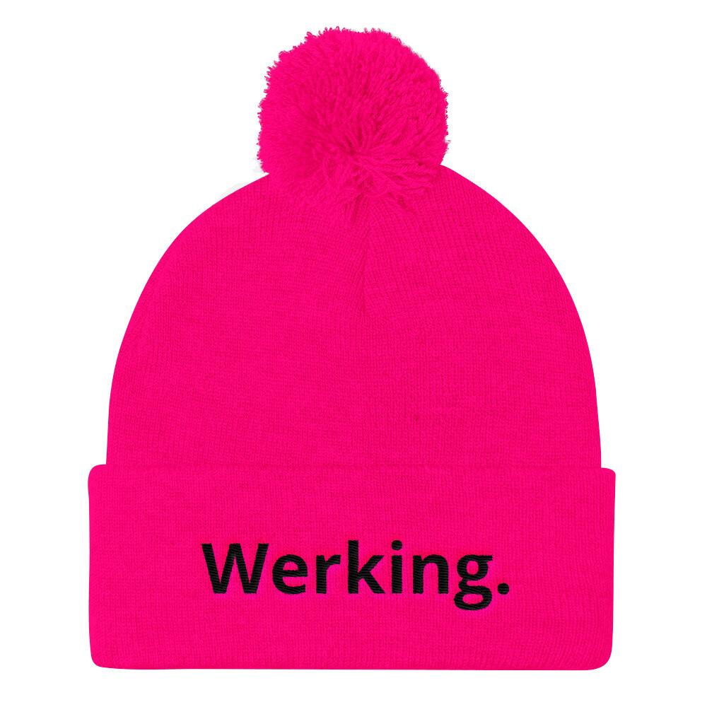 Werking. Pom Pom Knit Cap