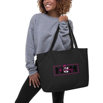 The Werking Mom Logo Large organic tote bag