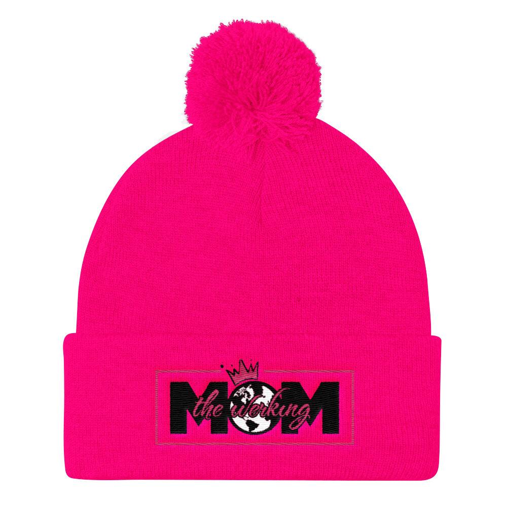 The Werking Mom Logo Pom Pom Knit Cap