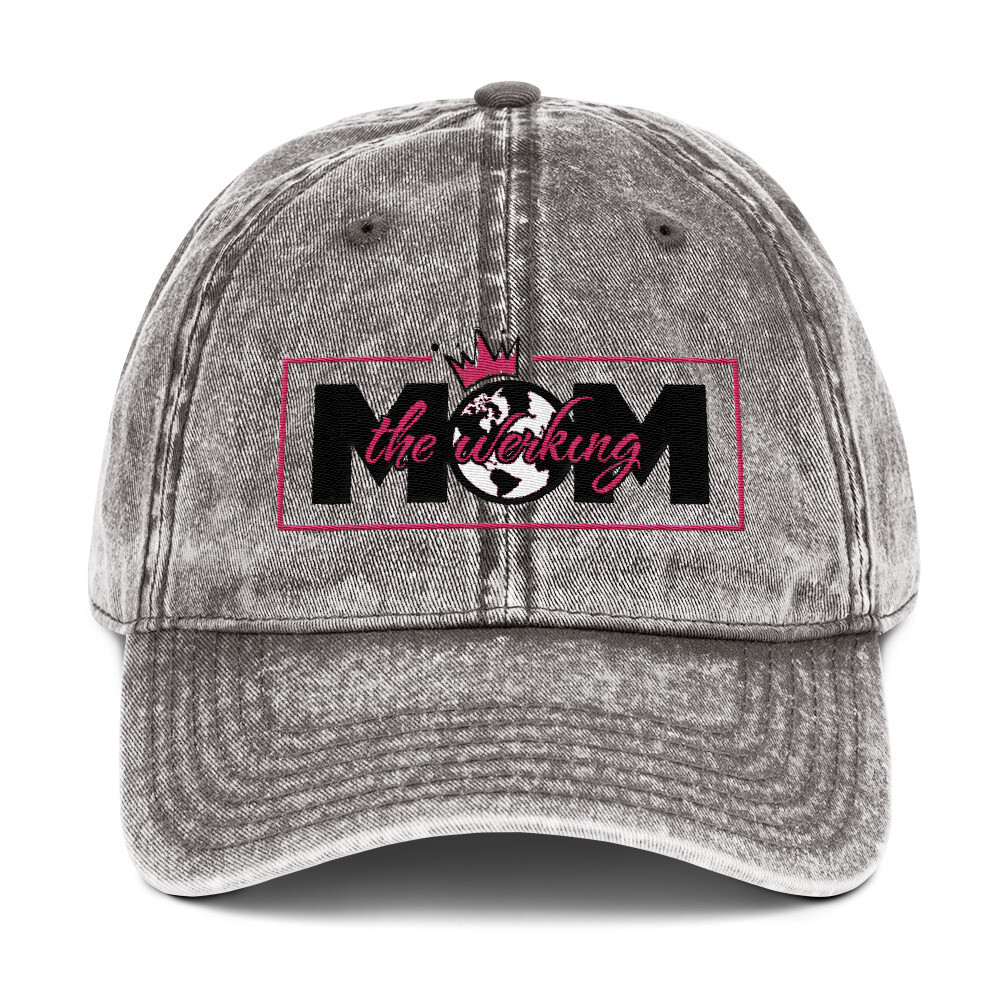 The Werking Mom Logo Vintage Cotton Twill Cap